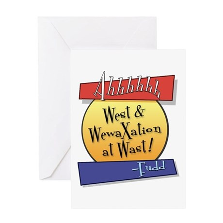 West... Greeting Card