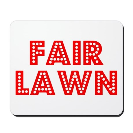 Retro Fair Lawn (Red) Mousepad