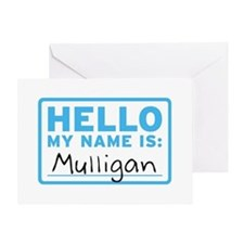 Hello My Name Is: Mulligan - Greeting Card