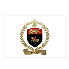 BEAULIEU Family Crest Postcards (Package of 8)