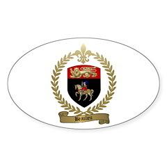 BEAULIEU Family Crest Oval Decal