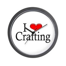 I Heart Crafting Wall Clock