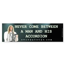 A Man And His Accordion - Bumper Bumper Sticker