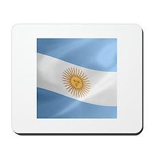Argentina Flag Wavy Mousepad