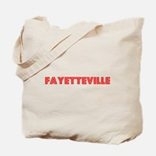 Retro Fayetteville (Red) Tote Bag