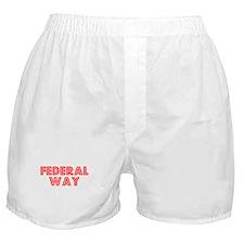 Retro Federal Way (Red) Boxer Shorts