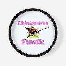 Chimpanzee Fanatic Wall Clock