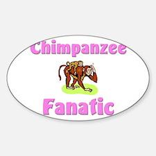 Chimpanzee Fanatic Oval Decal