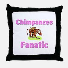 Chimpanzee Fanatic Throw Pillow