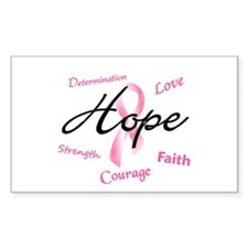 Courage Faith Love Hope 5 (Pink) Decal