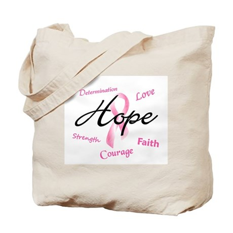 Courage Faith Love Hope 5 (Pink) Tote Bag
