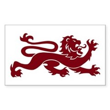 Not a Tame Lion Rectangle Decal
