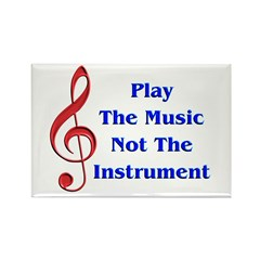 Play The Music Rectangle Magnet (100 pack)