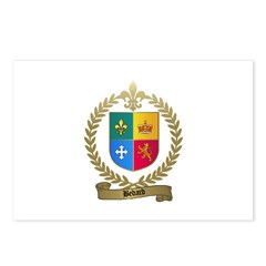 BEDARD Family Crest Postcards (Package of 8)