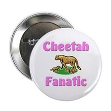 """Cheetah Fanatic 2.25"""" Button (10 pack)"""