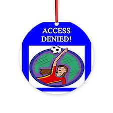 soccer goalie Ornament (Round)