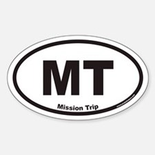 Mission Trip MT Euro Oval Decal