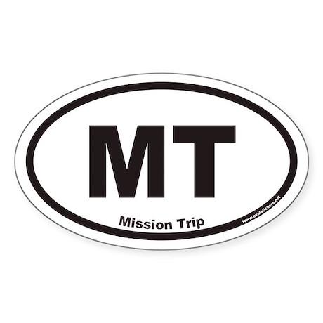 Mission Trip MT Euro Oval Sticker