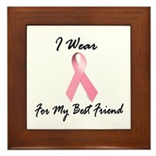 I Wear Pink For My Best Friend 1.2 Framed Tile