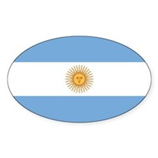 Argentina Flag Oval Decal