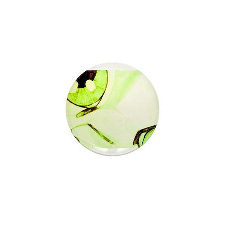 Green Beige Cat Mini Button (10 pack)