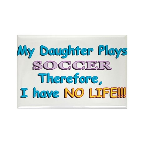 My Daughter Plays Soccer Rectangle Magnet