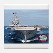USS Ronald Reagan CVN-76 Tile Coaster