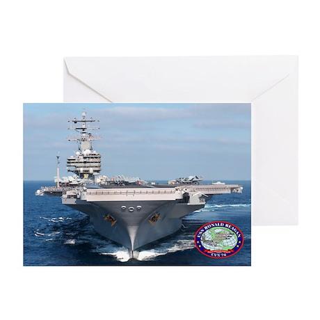 USS Ronald Reagan CVN-76 Greeting Cards (Pk of 10)