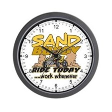 Sand Buggy Ride Today Wall Clock