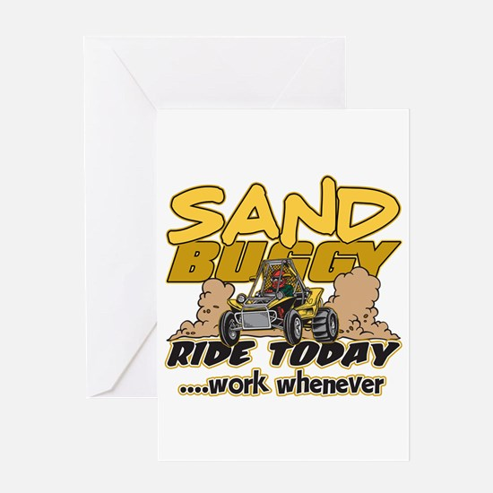 Sand Buggy Ride Today Greeting Card
