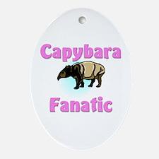 Capybara Fanatic Oval Ornament