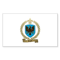 BEGIN Family Crest Rectangle Sticker