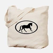 Canter Horse Oval Tote Bag