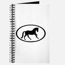Canter Horse Oval Journal