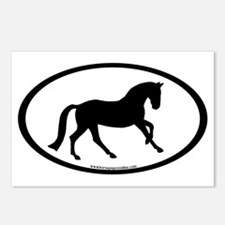 Canter Horse Oval Postcards (Package of 8)