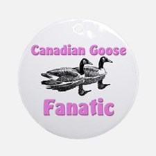 Canadian Goose Fanatic Ornament (Round)