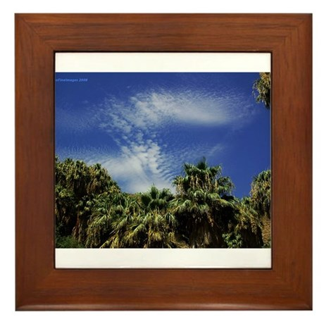 Palms and Sky Framed Tile