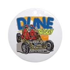 Dune Buggy Dirt Ornament (Round)