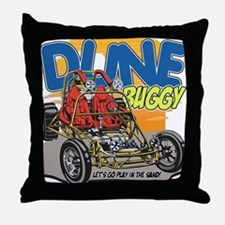 Dune Buggy Let's Go Play in the Sand Throw Pillow