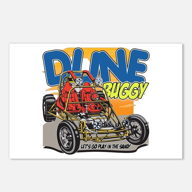 Dune Buggy Let's Go Play Postcards (Package of 8)
