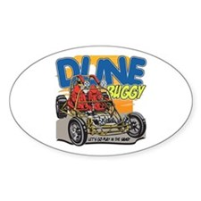 Dune Buggy Dirt Oval Bumper Stickers