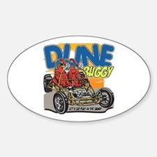 Dune Buggy Let's Go Play in the San Sticker (Oval)