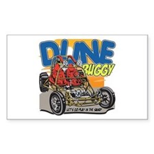 Dune Buggy Dirt Rectangle Bumper Stickers