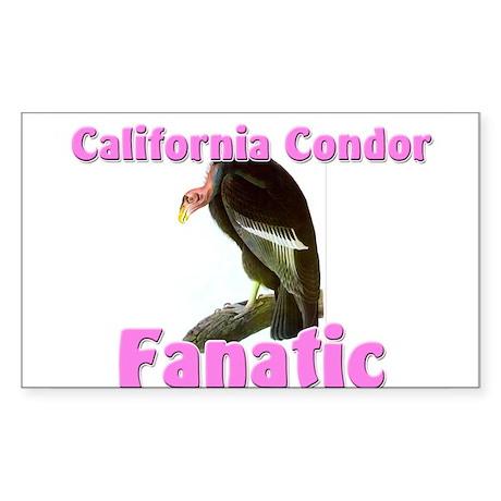 California Condor Fanatic Rectangle Sticker