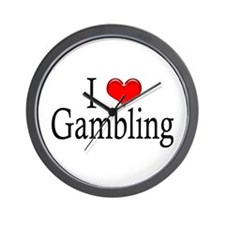 I Heart Gambling Wall Clock