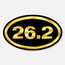 26.2 Marathon Runner Oval Oval Decal