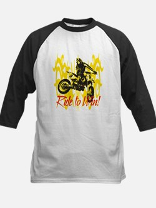 Ride to Win Motocross Kids Baseball Jersey