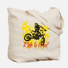 Ride to Win Motocross Tote Bag