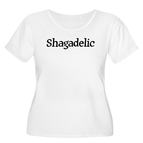 Shagadelic Women's Plus Size Scoop Neck T-Shirt