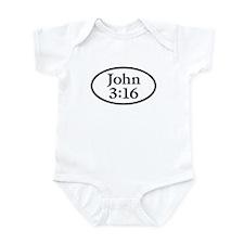 John 3:16 Oval Infant Bodysuit